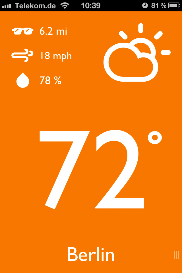 App Screenshot - Current location
