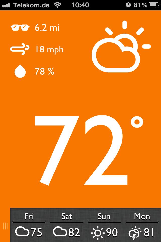 App Screenshot - Forecast