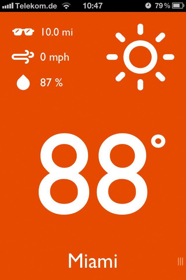 App Screenshot - Different colours - warm